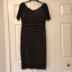 Form fitting and classy maternity cocktail dress